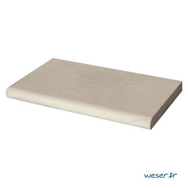 Margelle de piscine Bergerac Weser - Droite - en pierre reconstituée - Coloris Crème