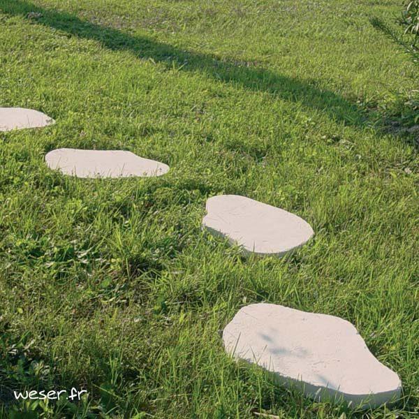 Pas Japonais Chinon Weser - pierre reconstituée - Crème
