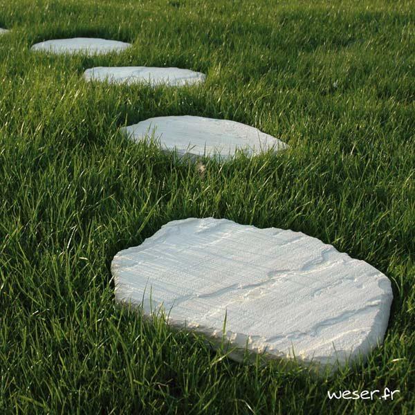 Pas Japonais Florac Weser - pierre reconstituée - Crème