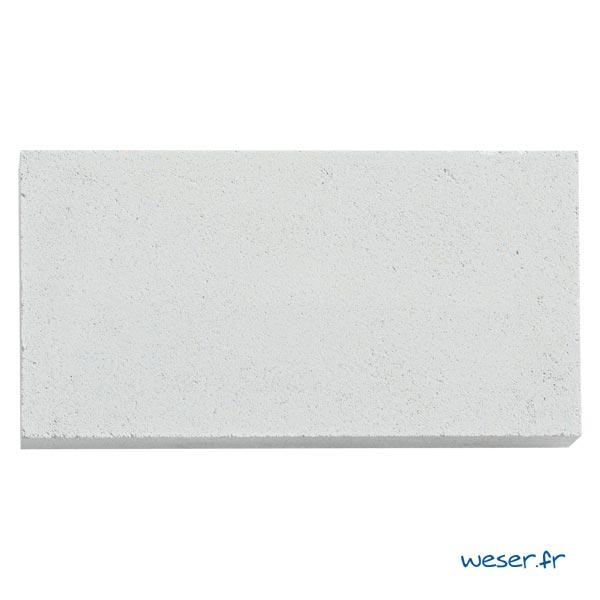 Élément de parement d'ouverture de porte et fenêtre P4 Weser - en pierre reconstituée compactée - Coloris Blanc Cassé