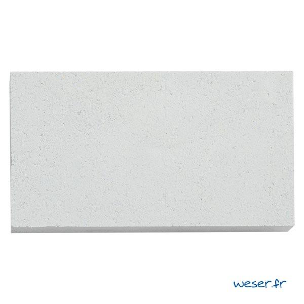 Élément de parement d'ouverture de porte et fenêtre P5 Weser - en pierre reconstituée compactée - Coloris Blanc Cassé