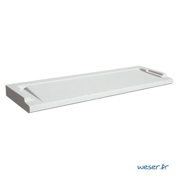 Seuil de porte UNIVERSEL largeur 34 cm Weser - en pierre reconstituée compactée - Coloris Blanc Cassé