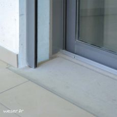 Seuil de porte UNIVERSEL largeur 34 cm Weser - en pierre reconstituée compactée - Coloris Gris