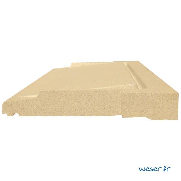 Seuil de porte UNIVERSEL à pose simplifiée largeur 40 cm Weser - en pierre reconstituée compactée - Coloris Ton pierre