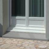 Seuil de porte Classique largeur 34 Weser - en pierre reconstituée compactée - Coloris Gris