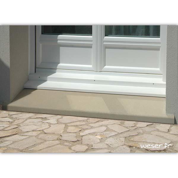 Seuil de porte Classique largeur 34 Weser - en pierre reconstituée compactée - Coloris Ton pierre