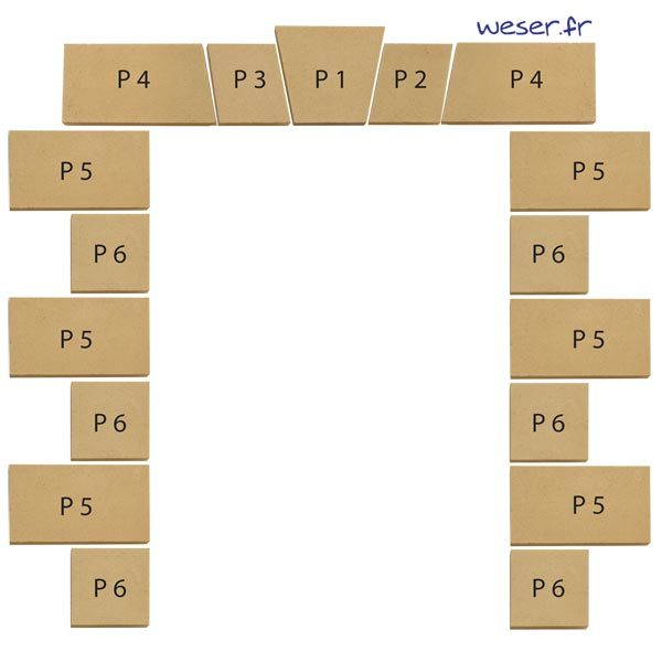 Comment assembler les parements d'ouvertures de façade de la maison Weser ?