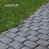 Bande de Pavés Chinon Weser - en pierre reconstituée - Coloris Gris