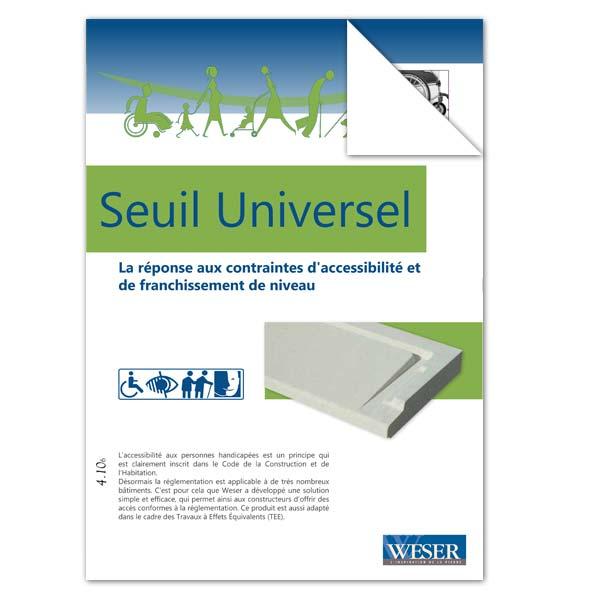 Téléchargez notre documentation sur les Seuils de porte Universels Weser