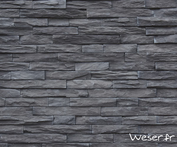 Parement mural, Murok Strato Gris anthracite - WESER