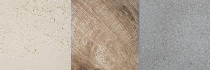 Montage texture pierre bois béton