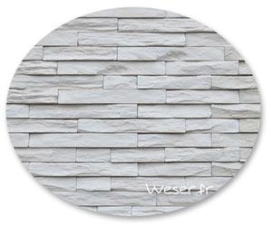 Parement mural Murok Strato blanc crème - WESER