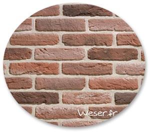 Zoom matière Parement brique Granulit WESER