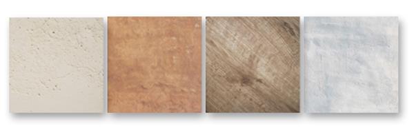 Différents matériaux pour parements muraux, Pierre naturelle, pierre reconstituée, terre cuite, bois et plâtre