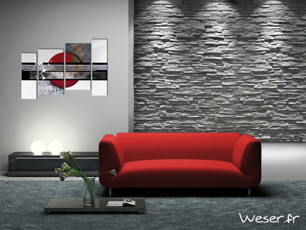 Parement mural murok strato anthracite De ryck By weser