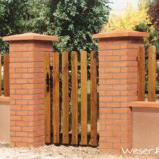 Pilier de clôture aspect Brique WESER - Brique couleur joint gris