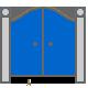 icon portail bleu fermé