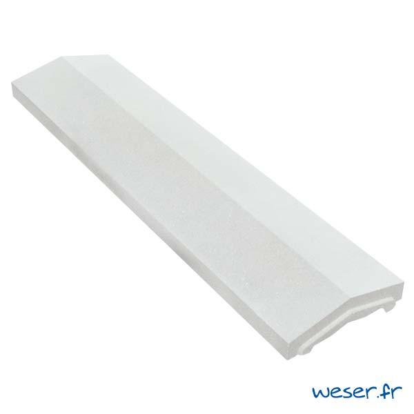 Couvre-mur OPTIPOSE® 2 pentes - largeur 25, longueur 1 mètre - Blanc cassé - Weser
