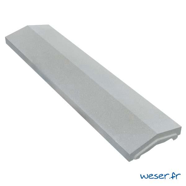 Couvre-mur OPTIPOSE® 2 pentes - largeur 25, longueur 1 mètre - Gris - Weser