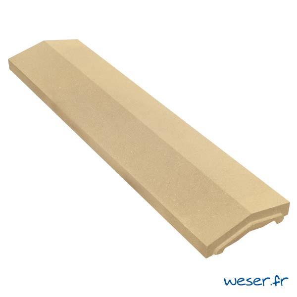 Couvre-mur OPTIPOSE® 2 pentes - largeur 25, longueur 1 mètre - Ton pierre - Weser