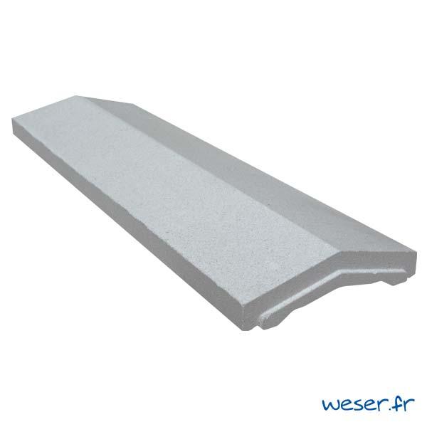 Couvre-mur OPTIPOSE® 2 pentes - largeur 30, longueur 1 mètre - Gris - Weser