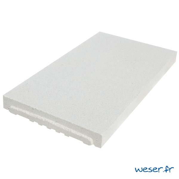 Couvre-mur OPTIPOSE® PLAT - longueur 0,5 mètre, largeur 28 cm - Blanc cassé - Weser
