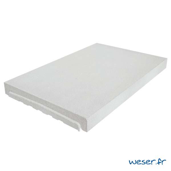 Couvre-mur OPTIPOSE® PLAT - longueur 0,5 mètre, largeur 33 cm - Blanc cassé - Weser
