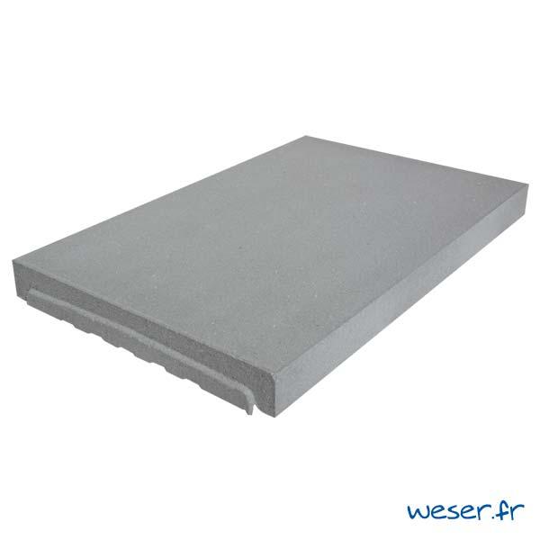 Couvre-mur OPTIPOSE® PLAT - longueur 0,5 mètre, largeur 33 cm - Gris - Weser