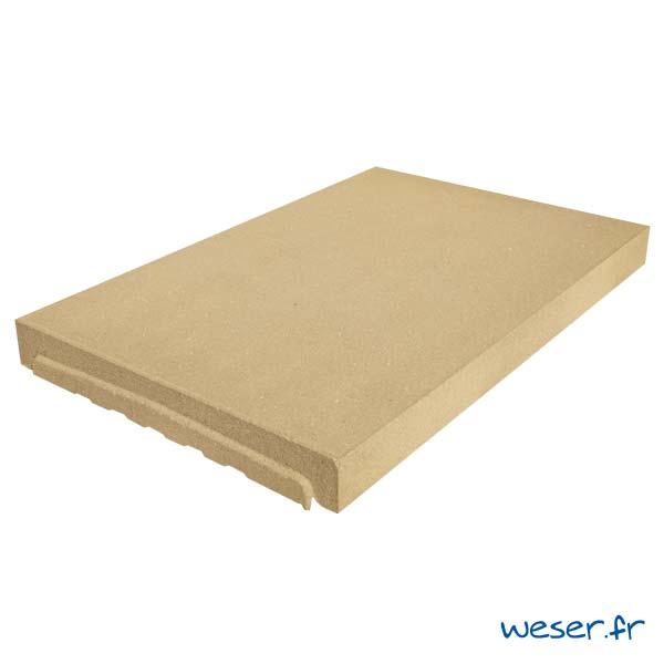 Couvre-mur OPTIPOSE® PLAT - longueur 0,5 mètre, largeur 33 cm - Ton pierre - Weser