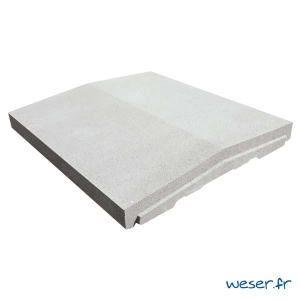 Chaperon de mur OPTIPOSE® à emboîtement - largeur 45 cm - Blanc cassé - Weser