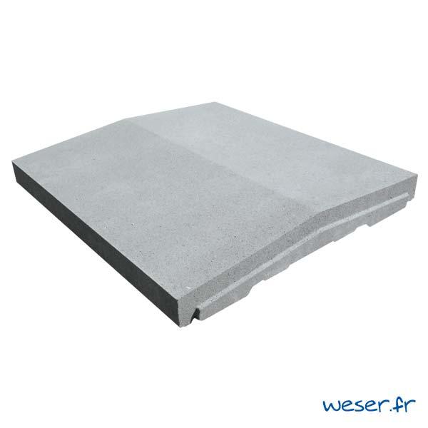 Chaperon de mur OPTIPOSE® à emboîtement - largeur 45 cm - Gris - Weser