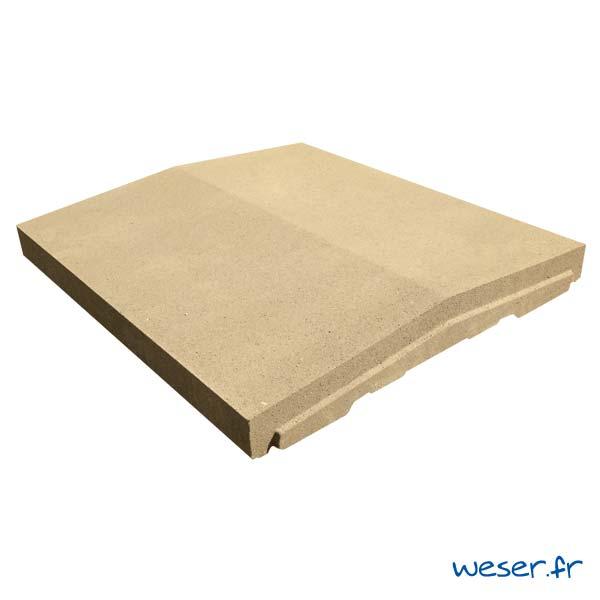 Chaperon de mur OPTIPOSE® à emboîtement - largeur 45 cm - Ton pierre - Weser