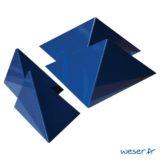 Insert pour poteau de clôture Prisme Weser - Coloris bleu