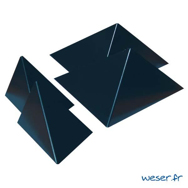 Insert pour poteau de clôture Prisme Weser - Coloris Gris anthracite