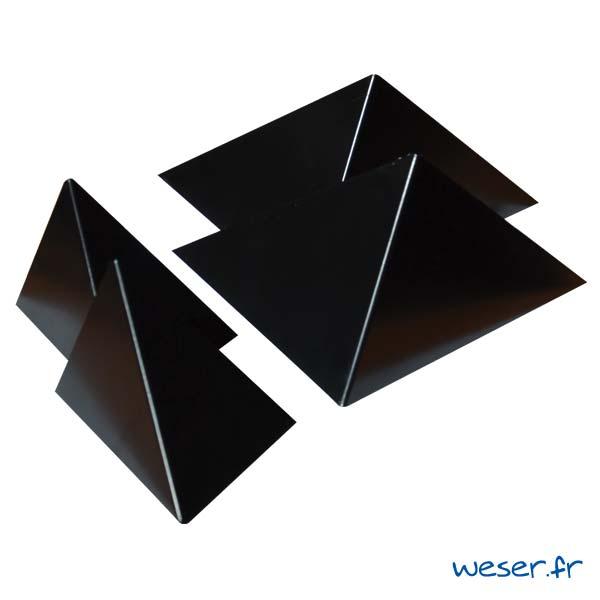 Insert pour poteau de clôture Prisme Weser - Coloris noir