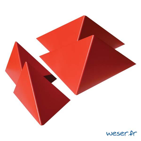 Insert pour poteau de clôture Prisme Weser - Coloris rouge