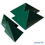 Insert pour poteau de clôture Prisme Weser - Coloris vert