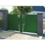 Pilier de clôture ou de portail Platinum Weser - 3 inserts aspect lisse - Dark