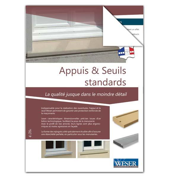Téléchargez notre documentation sur les Appuis de fenêtre et Seuils de porte Standards Weser