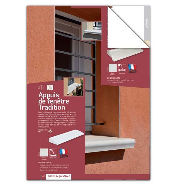 Téléchargez notre documentation sur les Appuis de fenêtre Tradition Weser
