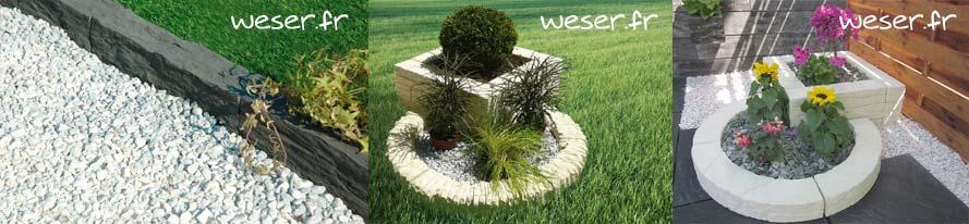 Bordure de jardin Auray - Bordure de jardin Florac - Bordure de jardin Chinon - Weser