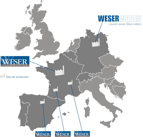 Weser, fabriquant Européen de produits en pierre reconstituée et béton décoratif