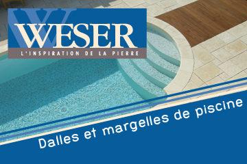 Dalles et margelles de piscine WESER