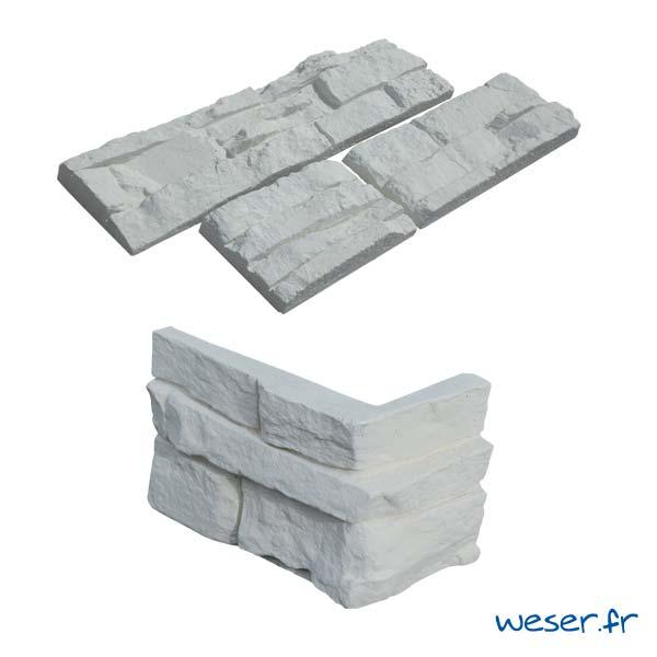 Plaquettes de parement muraux De Ryck By Weser MUROK ATLAS Blanc DRPKGATL55