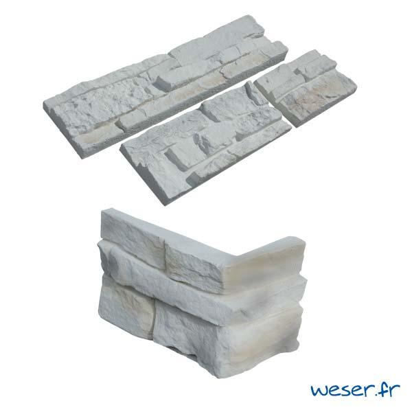 Plaquettes de parement muraux De Ryck By Weser MUROK ATLAS Blanc Nuancé DRPKGATL56