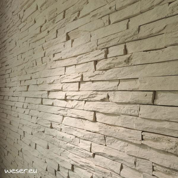 Plaquettes de parement muraux De Ryck By Weser STRATO Crème DRPKGM81