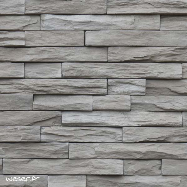 Plaquettes de parement muraux De Ryck By Weser STRATO Gris Terre DRPKGM83