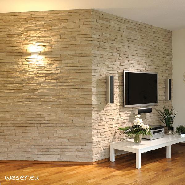 Plaquettes de parement muraux De Ryck By Weser STRATO Marron léger DRPKGM82