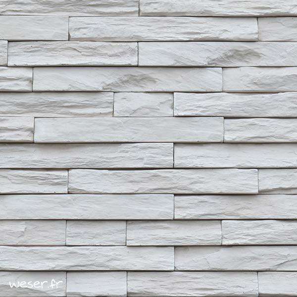 Plaquettes de parement muraux De Ryck By Weser MUROK STRATO Blanc crème DRPKGM81
