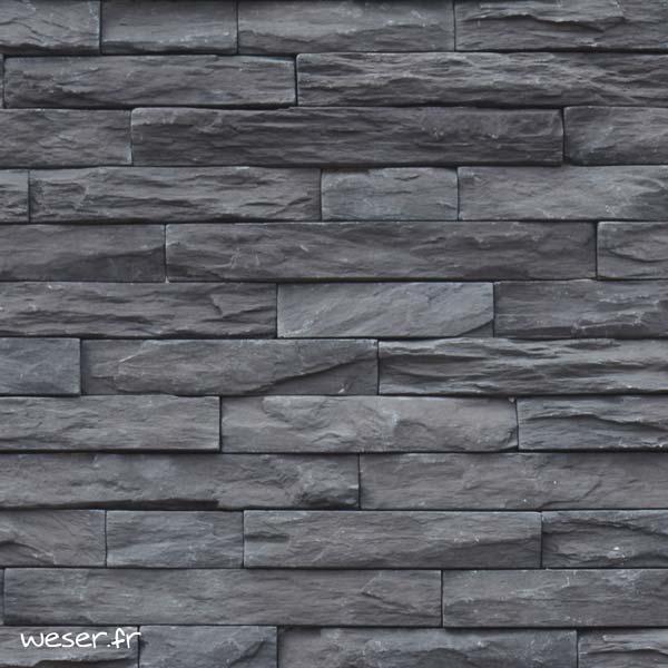 Plaquettes de parement muraux De Ryck By Weser MUROK STRATO Gris Anthracite DRPKGM89